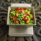 Edamame and Grape Tomato Salad