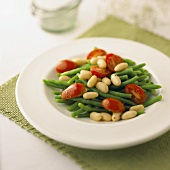 Green Bean and Grape Tomato Salad with White Beans