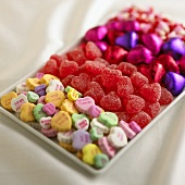 A Tray of Assorted Valentine's Day Candy