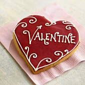A Heart Shaped Valentine Cookie