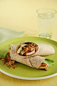 Barbecue Chicken Wrap on a Whole Wheat Tortilla