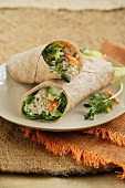Tuna Salad with Dill in a Whole Wheat Tortilla Wrap