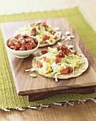 Taco Salad on Soft Shell Tortillas