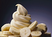 Soft serve banana ice cream