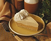 A Slice of Pumpkin Mousse Pie with Cinnamon Cream