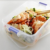 Shrimp Salad in a Plastic Container