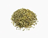 Pile of Fennel Seed on White Background