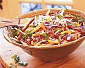 Cabbage salad with jicama and peppers