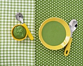Pea soup and pea puree