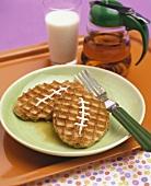 Football waffles