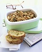 Bean and artichoke stew