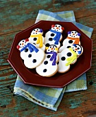 Plate of Snowmen Cookies