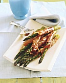Platter of Bacon Wrapped Asparagus Spears