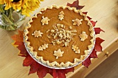 Pumpkin Pie mit kandiertem Ingwer zu Thanksgiving (USA)