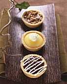 Three Tartlets: Raspberry, Lemon and Pecan