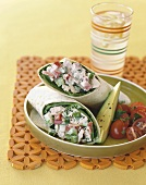 Tuna Salad in a Tortilla with Avocado and Grape Tomatoes