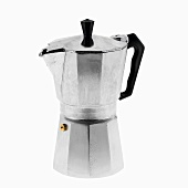 Vintage Espresso Maker on a White Background