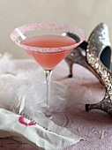 A Pink Martini for a Bridal Shower; High Heels and Lipstick on a Napkin
