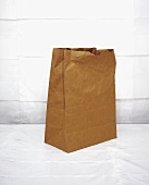Brown paper bag, crumpled