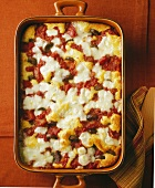 Polenta, Sausage and Cheese Casserole
