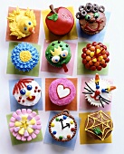 Assorted decorated cup-cakes for children