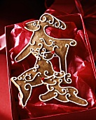 Gingerbread reindeer in red box