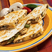 Quesadillas with mushroom and jalapeño filling