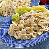Pasta salad with tuna and celery