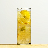 Jug of white wine sangria