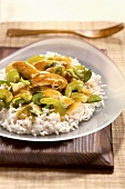Stir Fried Chicken with Rice