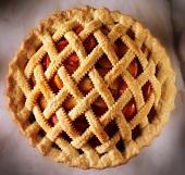 Peach Pie with Lattice Crust