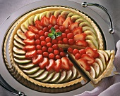 Tart with Fruit Filling including Guava, Strawberries, and Raspberries