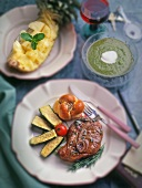 Braised Lamb chop Dinner