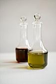 Bottles of oil and vinegar