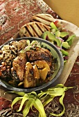 North African chicken with ingredients