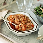 Carrots with rolled oat topping (side dish, USA)