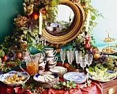 Elegant Holiday Buffet Sideboard