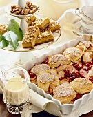 Dessert Buffet; Dessert Nut Bars and Apple Cranberry Cobbler