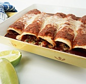 Enchiladas in baking dish