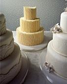 Three Assorted Wedding Cakes