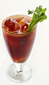 Bloody Mary on the rocks with stick of celery