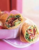 BLT wraps (with bacon, lettuce and tomato)