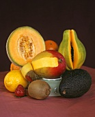 Still life with a selection of fruit
