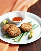 Thai crab cakes with dip