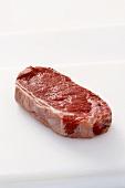 New York Steak on a White Background