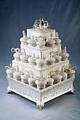 Elegant Cupcake Cake on an Elegant Cake Stand