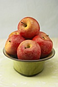 Pink Lady Apples in a Pedestal Dish