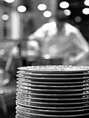 A pile of plates