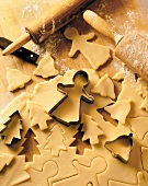 Christmas Cookie Cutters and Dough