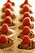 Chocolate Mousse Tartlets with Raspberries